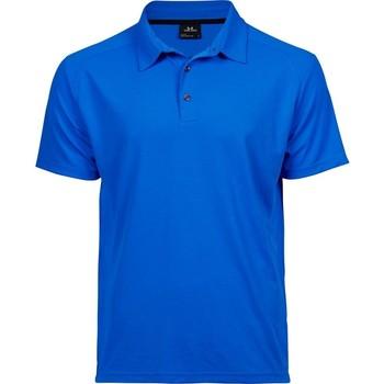 textil Herr Kortärmade pikétröjor Tee Jays TJ7200 Elektrisk blå