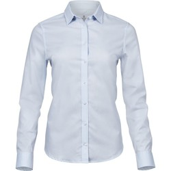 textil Dam Skjortor / Blusar Tee Jays TJ4025 Ljusblå