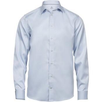 textil Herr Långärmade skjortor Tee Jays TJ4020 Ljusblå