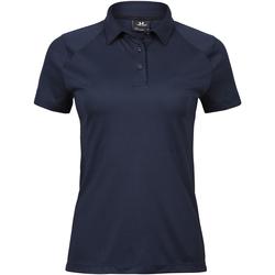 textil Dam Kortärmade pikétröjor Tee Jays TJ7201 Marinblått