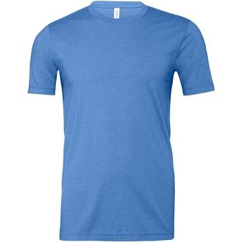 textil T-shirts & Pikétröjor Bella + Canvas CA3001CVC Blå