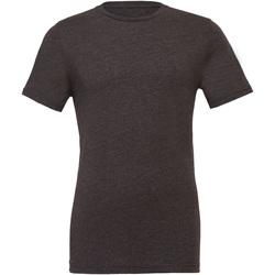 textil T-shirts & Pikétröjor Bella + Canvas CA3001CVC Mörkgrått ljummet