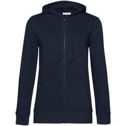 textil Dam Sweatshirts B&c WW36B Marinblått