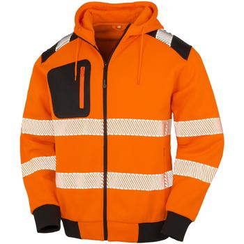 textil Herr Sweatshirts Result Genuine Recycled R503X Fluorescerande orange