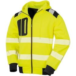 textil Herr Sweatshirts Result Genuine Recycled R503X Fluorescerande gult