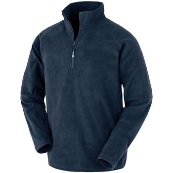 textil Herr Fleecetröja Result Genuine Recycled R905X Marinblått