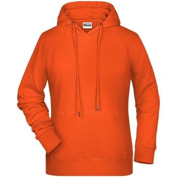 textil Dam Sweatshirts James And Nicholson  Orange