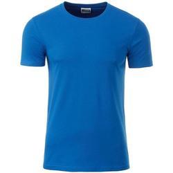 textil Herr T-shirts James And Nicholson  Koboltblått