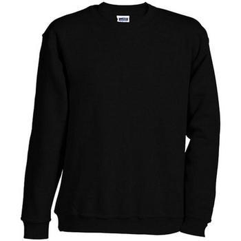 textil Sweatshirts James And Nicholson  Svart
