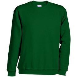 textil Sweatshirts James And Nicholson  Mörkgrön