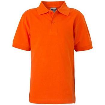 textil Barn Kortärmade pikétröjor James And Nicholson  Mörk orange