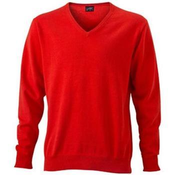 textil Herr Sweatshirts James And Nicholson  Mörk orange