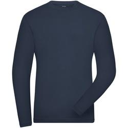 textil Herr Sweatshirts James And Nicholson  Marinblått