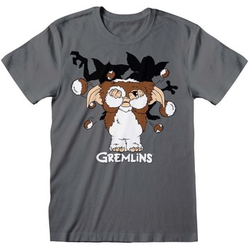 textil Herr T-shirts Gremlins  Grått kolgrått
