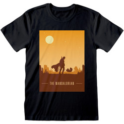 textil T-shirts Star Wars: The Mandalorian  Svart