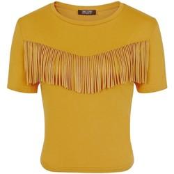 textil Dam T-shirts Girls On Film  Senapsgult