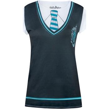 textil Dam T-shirts Harry Potter  Svart/vit