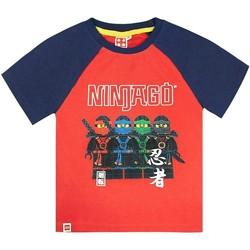 textil Pojkar T-shirts Lego  Röd