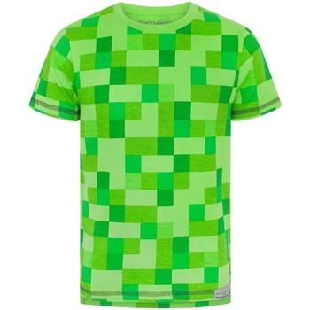 textil Pojkar T-shirts Minecraft  Grön