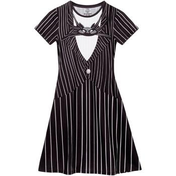 textil Dam Korta klänningar Nightmare Before Christmas  Svart/vit