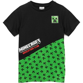 textil Pojkar T-shirts Minecraft  Svart