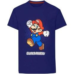 textil Pojkar T-shirts & Pikétröjor Super Mario  Marinblått