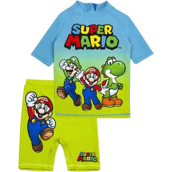 textil Pojkar Set Super Mario  Blå/grön