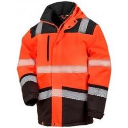 textil Jackor Result R475X Fluorescerande orange/svart