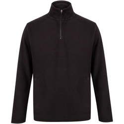 textil Herr Sweatshirts Henbury H858 Svart