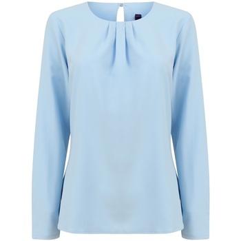 textil Dam Långärmade T-shirts Henbury HB598 Ljusblå