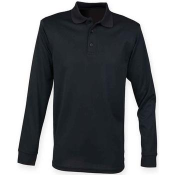 textil T-shirts & Pikétröjor Henbury H478 Svart