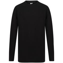 textil Herr Långärmade T-shirts Sf SF259 Svart