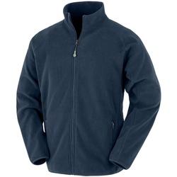 textil Herr Sweatshirts Result Genuine Recycled RS903 Marinblått