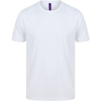 textil Herr T-shirts Henbury H024 Vit
