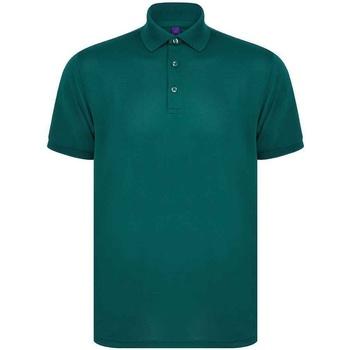 textil Herr Kortärmade pikétröjor Henbury H465 Flaskegrön