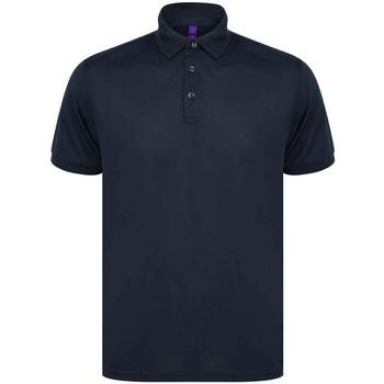 textil Herr Kortärmade pikétröjor Henbury H465 Marinblått