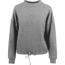 textil Dam Sweatshirts Build Your Brand BY058 Grått