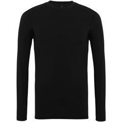 textil Herr Långärmade T-shirts Tridri TR016 Svart