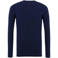 textil Herr Långärmade T-shirts Tridri TR016 Marinblått