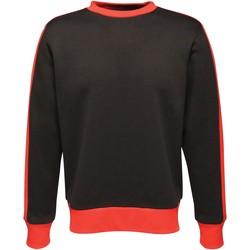 textil Herr Sweatshirts Regatta RG666 Svart/Klassiskt rött