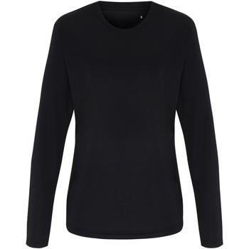 textil Dam Långärmade T-shirts Tridri TR060 Svart