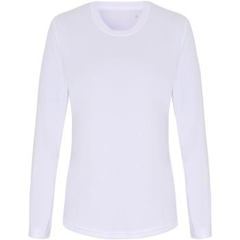 textil Dam Långärmade T-shirts Tridri TR060 Vit