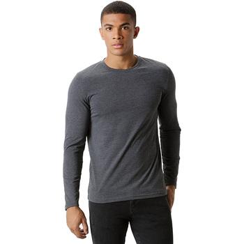textil Herr Långärmade T-shirts Kustom Kit KK510 Mörkgrå marl