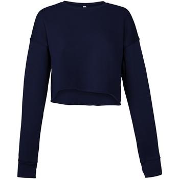textil Dam Sweatshirts Bella + Canvas BE7503 Marinblått