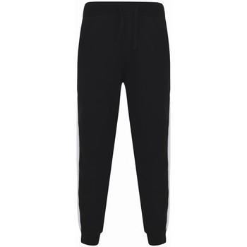 textil Joggingbyxor Sf SF423 Svart/vit