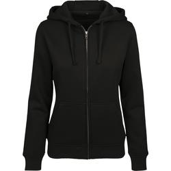 textil Dam Sweatshirts Build Your Brand BY088 Svart