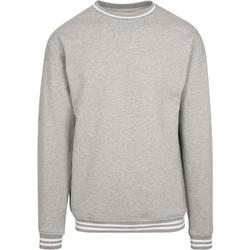 textil Herr Sweatshirts Build Your Brand BY104 Grått/vit