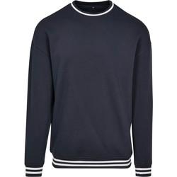 textil Herr Sweatshirts Build Your Brand BY104 Marinblått/vit