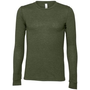 textil Långärmade T-shirts Bella + Canvas BE044 Militärt grönt