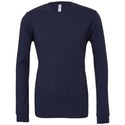 textil Långärmade T-shirts Bella + Canvas BE044 Marinblått